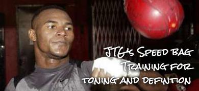 WWE Superstar JTG's Boxing Speed Bag Workout for Defined Arms and Toned Shoulders - Body Spartan