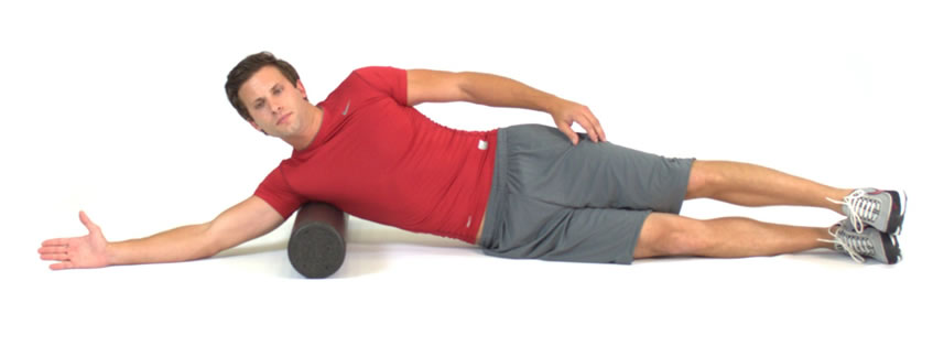 foam rolling exercises for lats