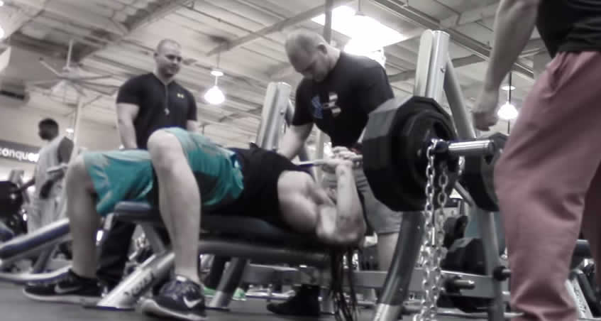 Full range of motion for the bench press form