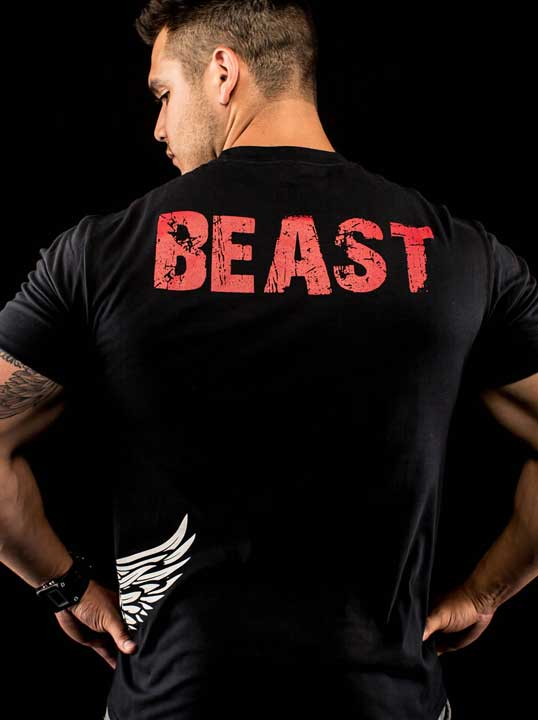Mens beast shirt for workouts