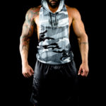 Workout sleeveless hoodies