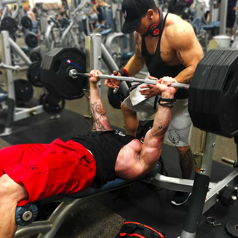 Decline bench press for chest workouts