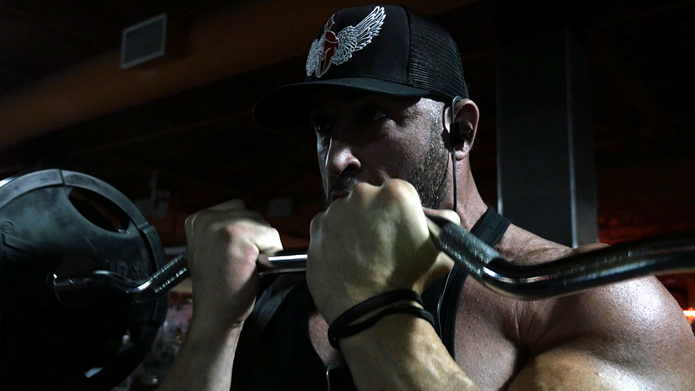 biceps triceps super set close grip