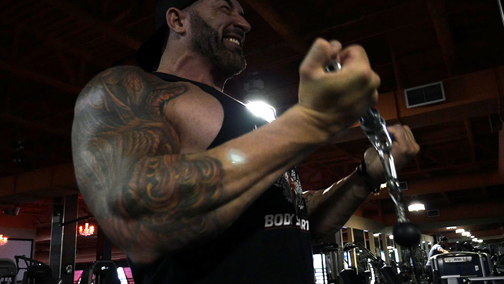biceps triceps super set workout