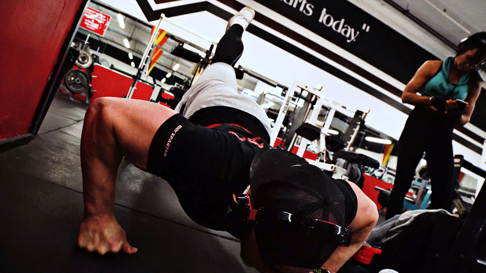 Chest and biceps workout push ups